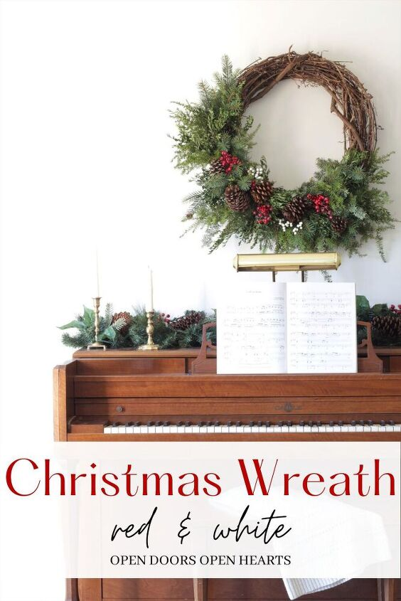 beautiful diy christmas wreath on a budget
