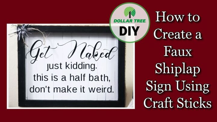 how to make a cute half bath wood sign get naked wood sign