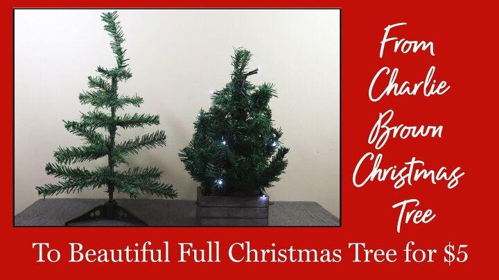diy charlie brown christmas tree makeover table top christmas tree