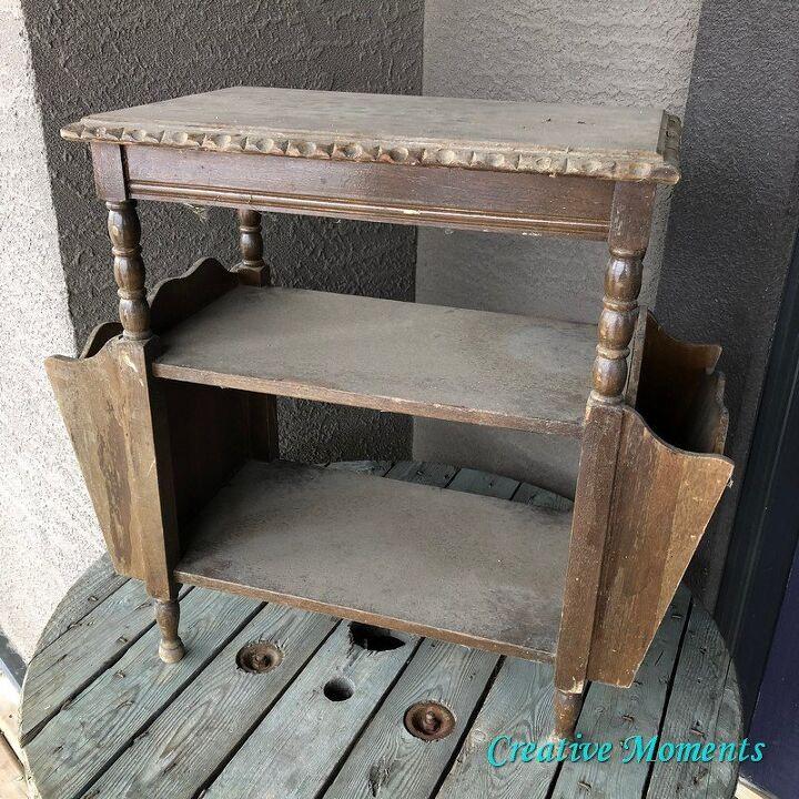 antique milk painted table