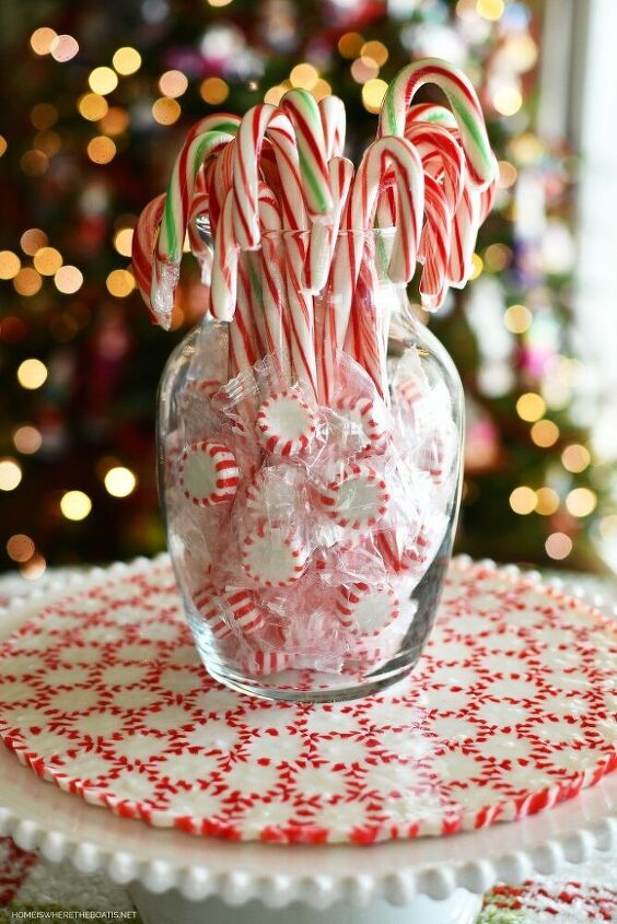 quick and easy diy peppermint platter