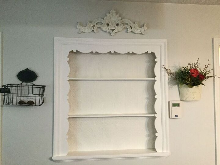 new built in for our kitchen, Before plate rack
