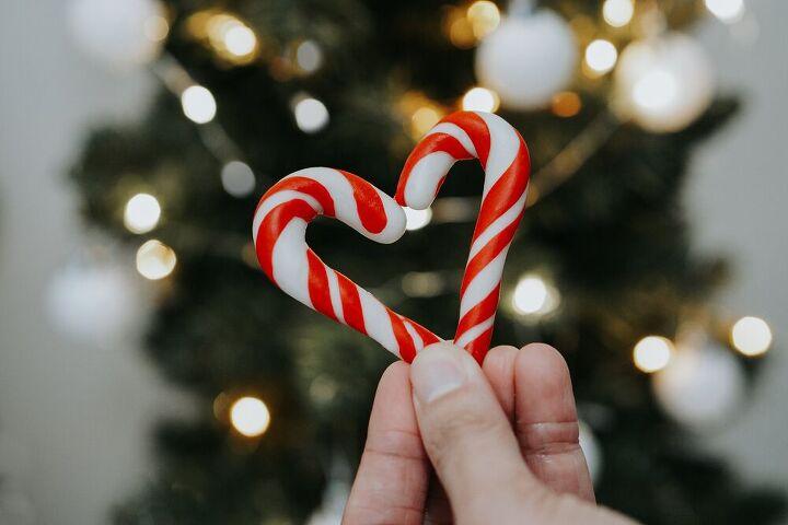 diy candy cane ornament decorating a slim christmas tree space sav