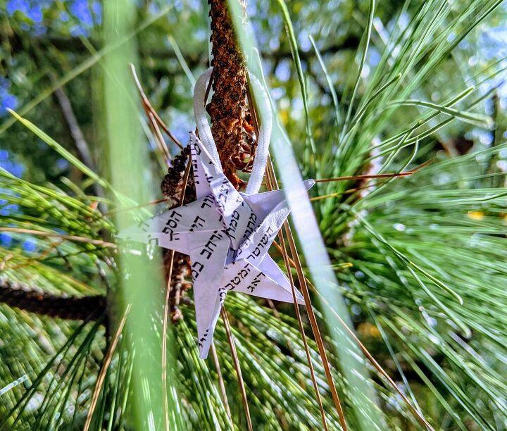 christmas star origami ornament