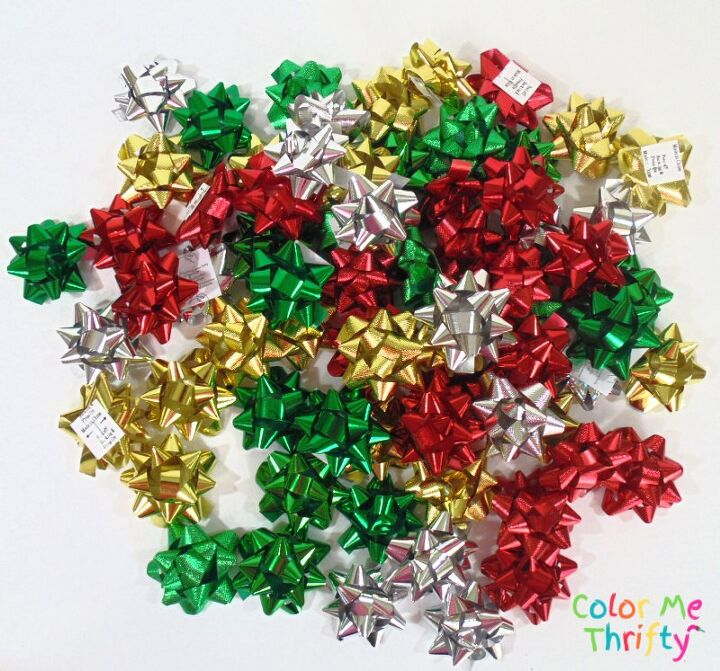 quick easy diy gift bow trees