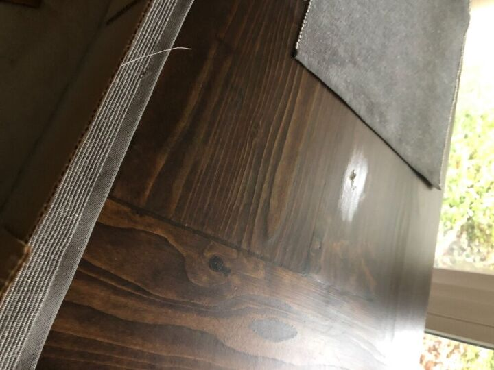 q how to fix dent in table