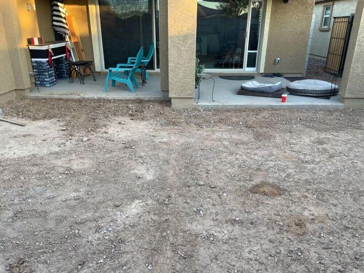 backyard paver job