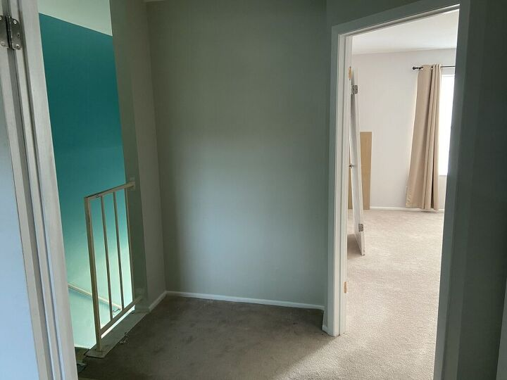 creating a space saving accent wall and workspace