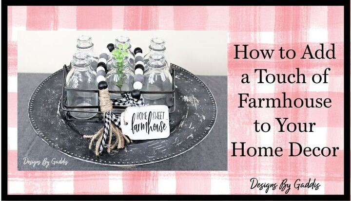 simple way to add a touch of farmhouse decor to your home