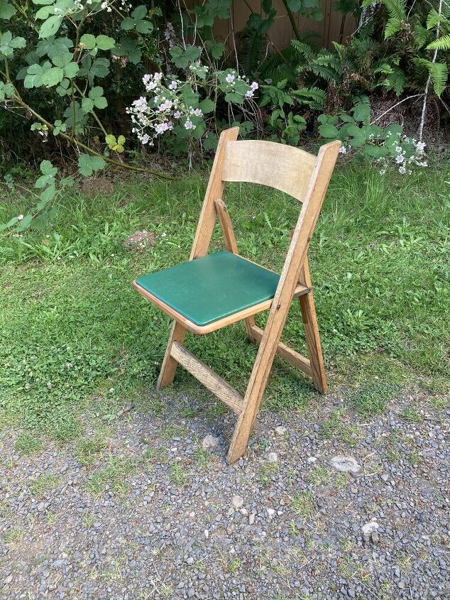 updating wooden folding chairs