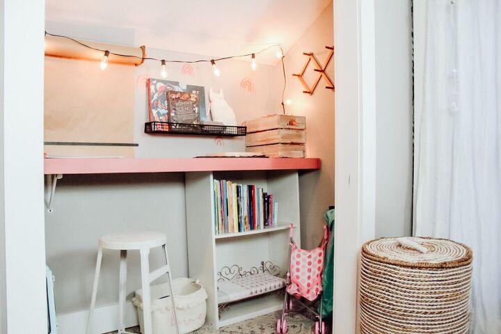 closet makeover diy built in desk
