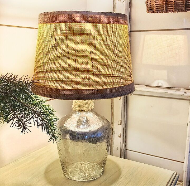 how to create a mercury glass lamp base