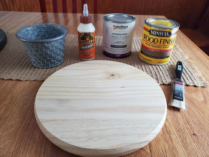 diy cake stand or plant stand