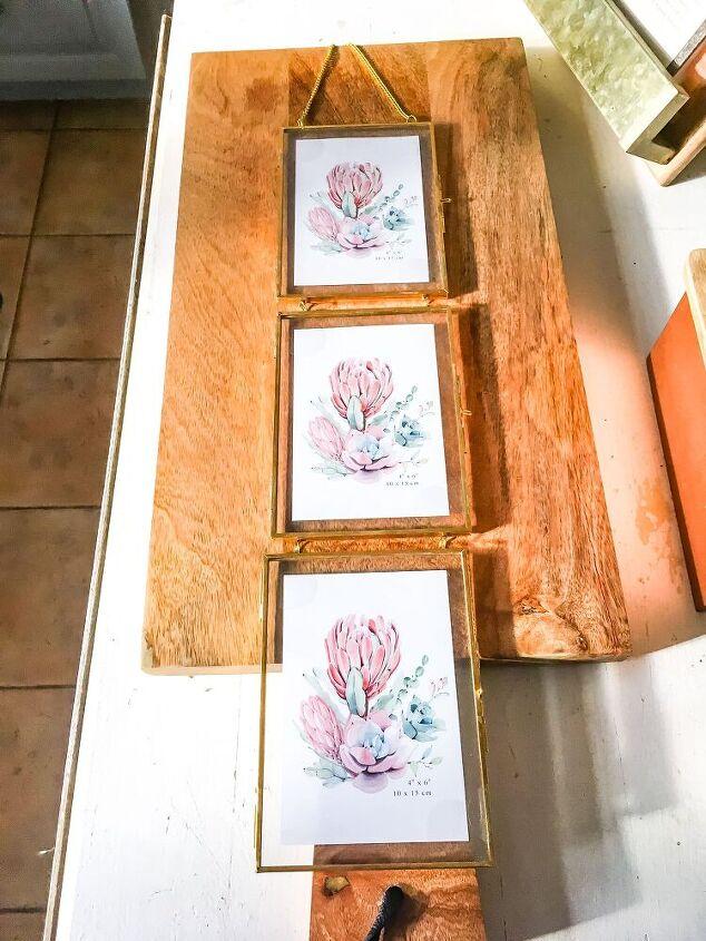 diy dollar store greeting card artwork