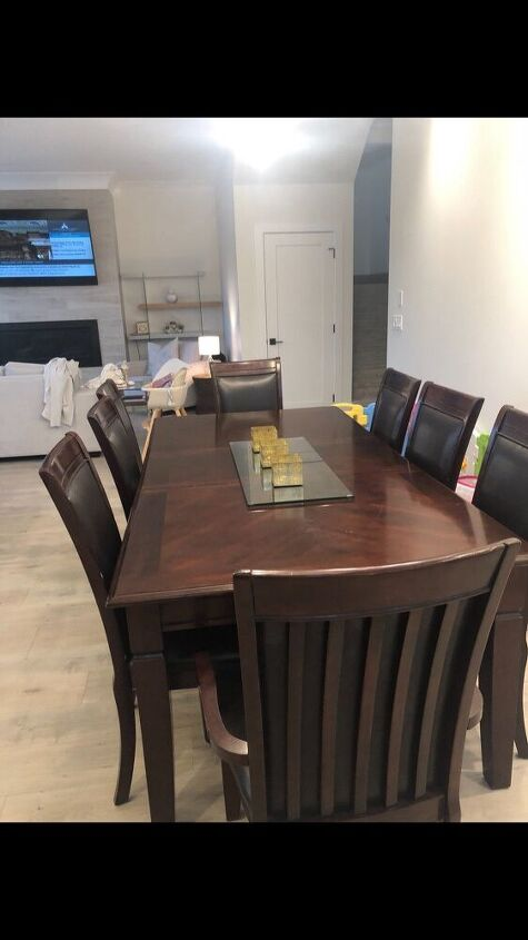 black beauty dining table upcycle