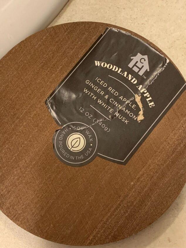 Round wood top.