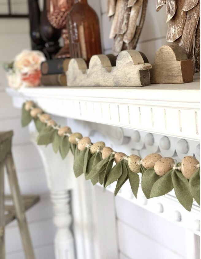 felt leaf garland diy