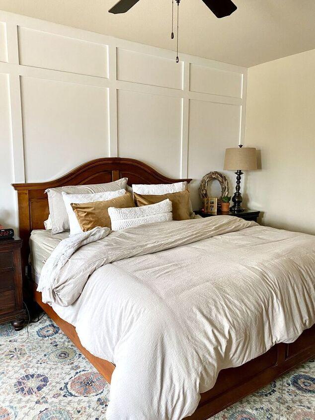 diy board and batten bedroom wall