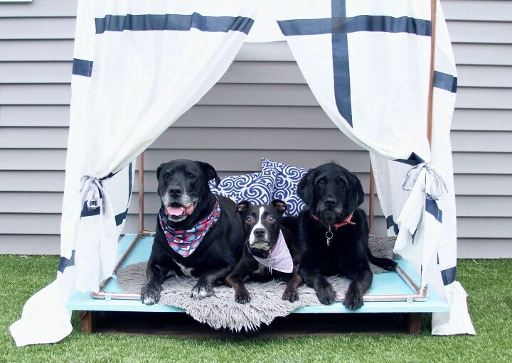 s 27 seriously cute diys every dog owner should see, DIY Outdoor Dog Bed Lounger