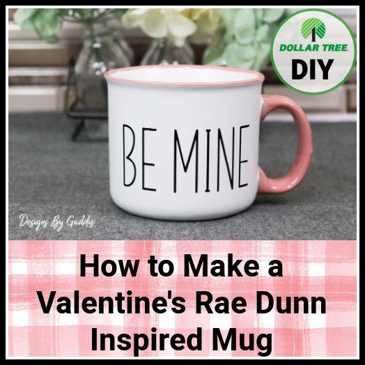 valentines day dollar tree mug diy cricut tutorial