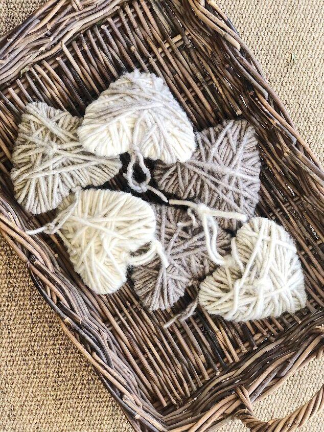 diy yarn wrapped hearts