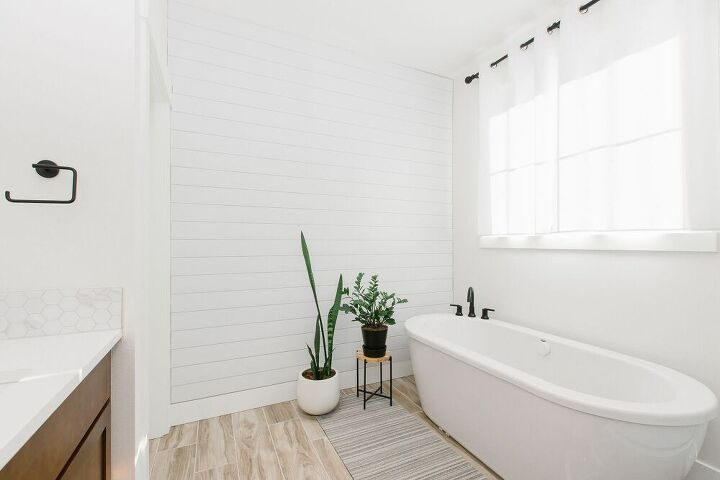 how to easily install a shiplap accent wall