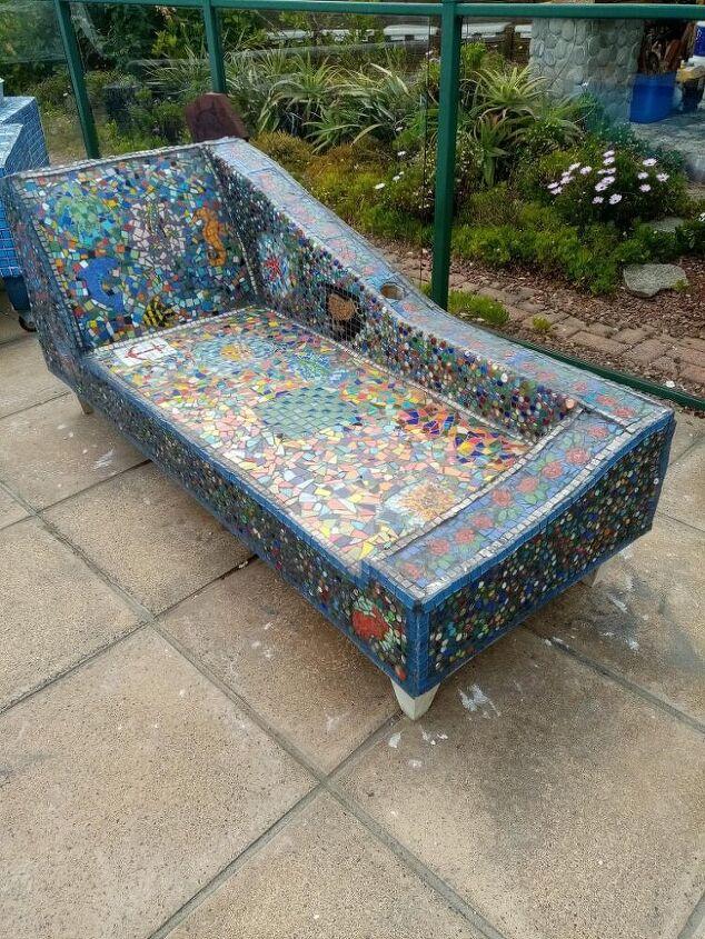 mosaic chaise