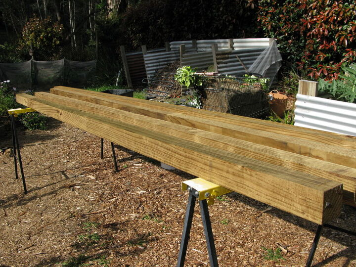 arbour made with recycled box springs