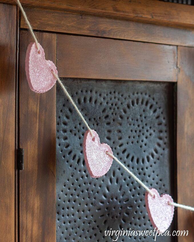 diy valentine s day heart garland