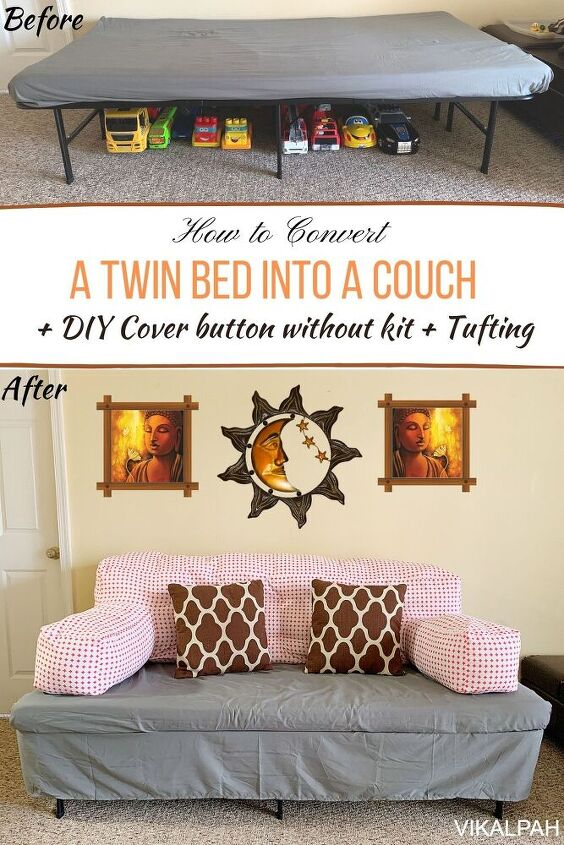 how to convert a twin bed into a couch