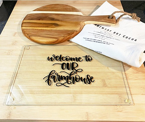 dollar store glass cutting board