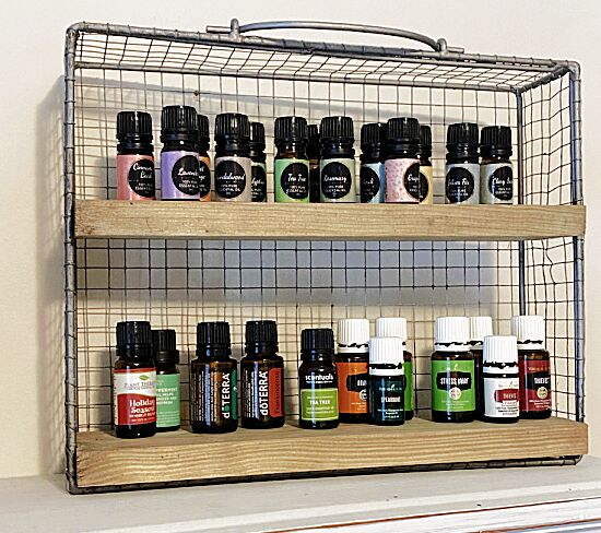diy essential oil shelf