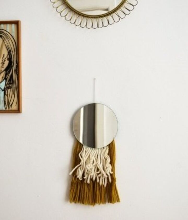 DIY Mirror With Fringes