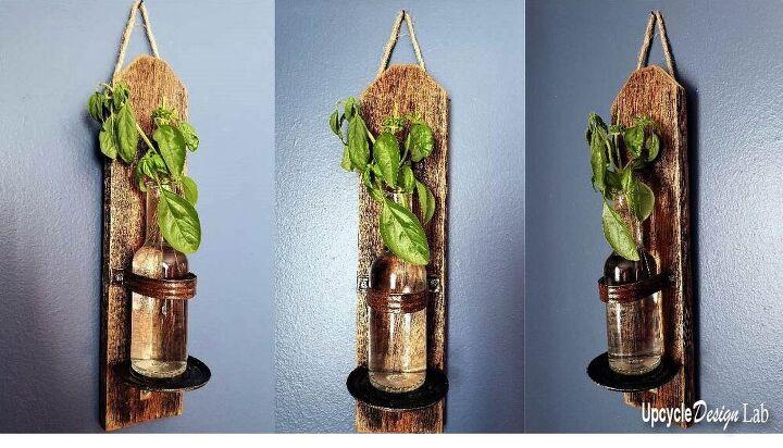 plant propagation hanging wall vase upcycled craft