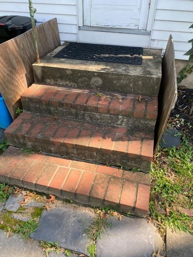 q how can i clean up the side porch