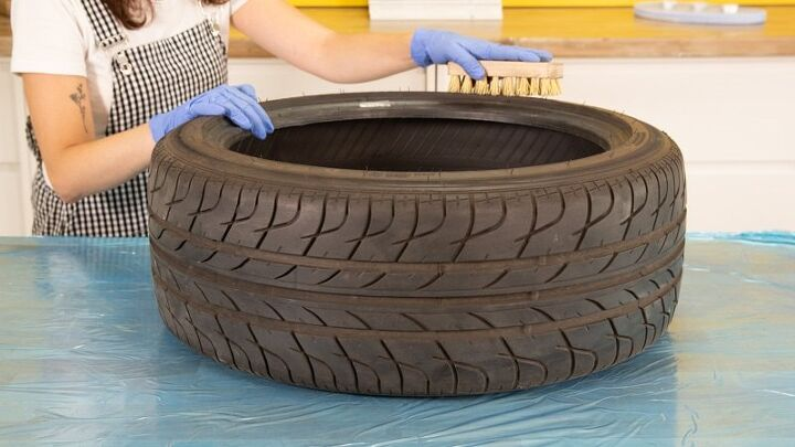 how to make a round table out of a tire