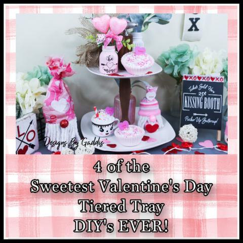 4 of the sweetest valentines tiered tray decor diy s ever