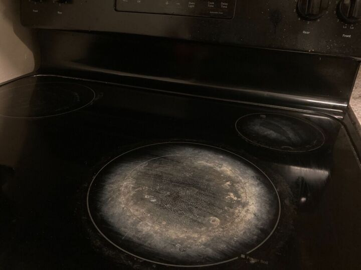 q how do i clean or polish or make it look better glass top stove