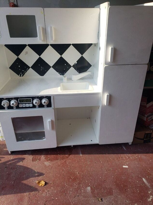 how i made an old toy kitchen into one nicer then my real kitchen