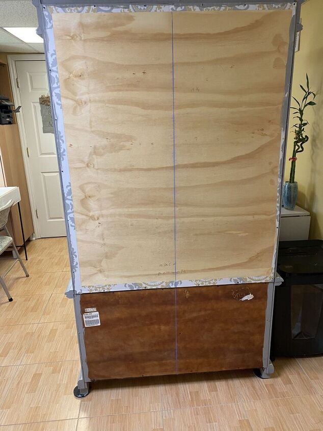 creating a decorative armoire back to use it as a room divider