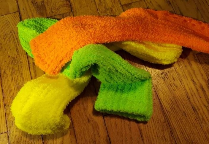 neon nubby knit gnomes, Find some fun socks