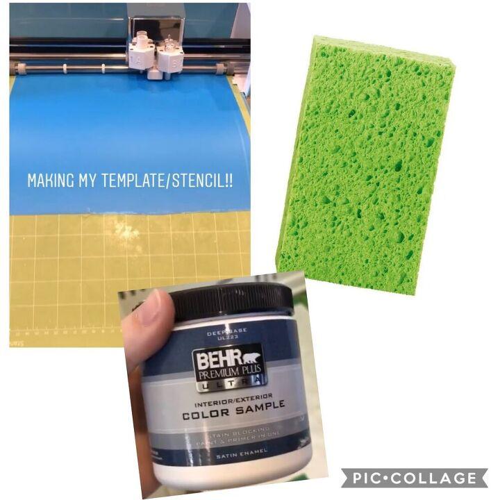 create an accent wall using a sponge, Supplies