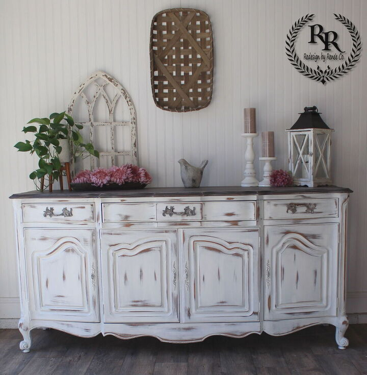 sideboard buffet stain it and paint it shabby chic farmhouse