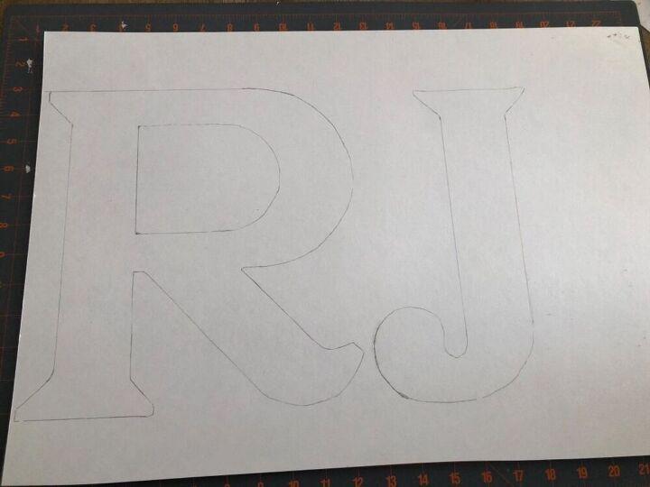 diy rattan initials