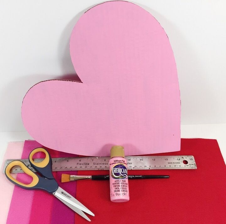ombre felt fringed heart a diy for valentine s day