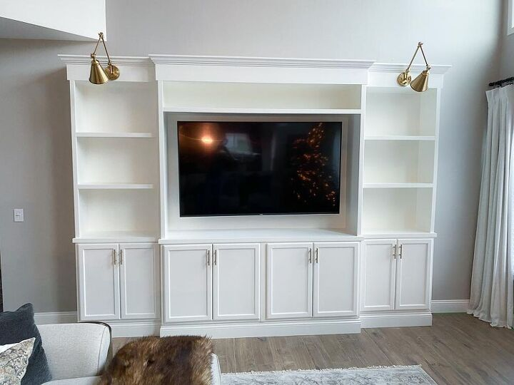 our diy built in media center reveal material list cost included