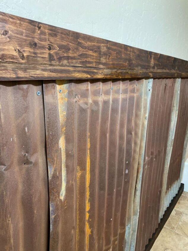 rusty tin wainscoting