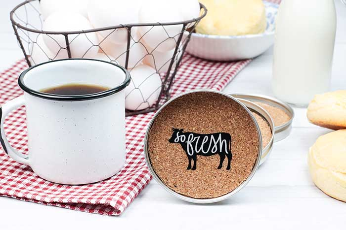 how to make rustic farmhouse coasters with canning rings