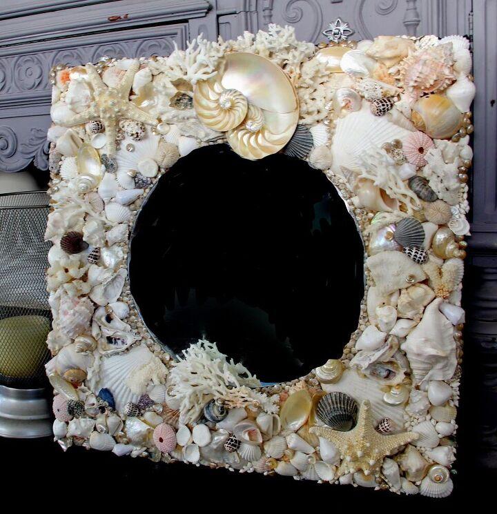 how to make a unique seashell mirror