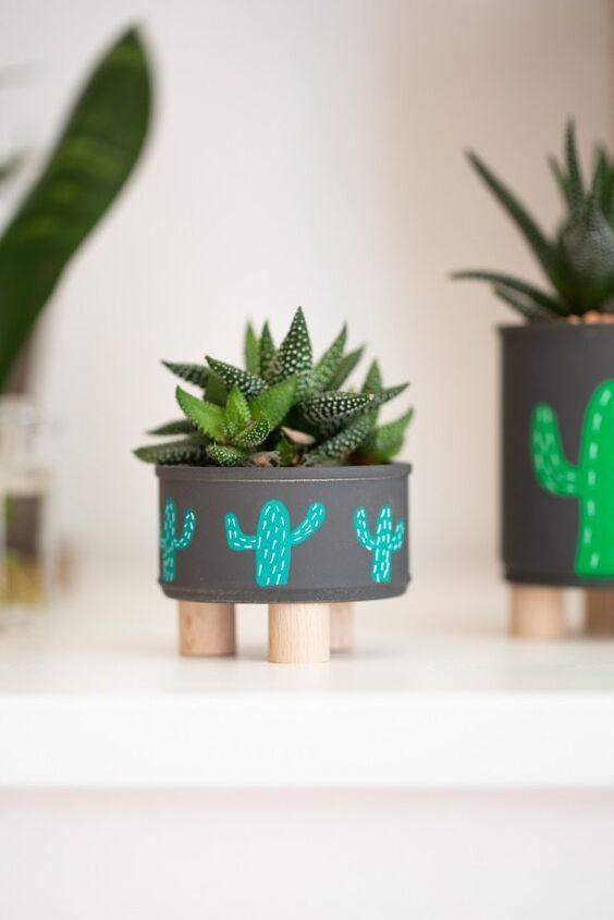 make your own flower pot diy mini plant stands gizmos hobbies di